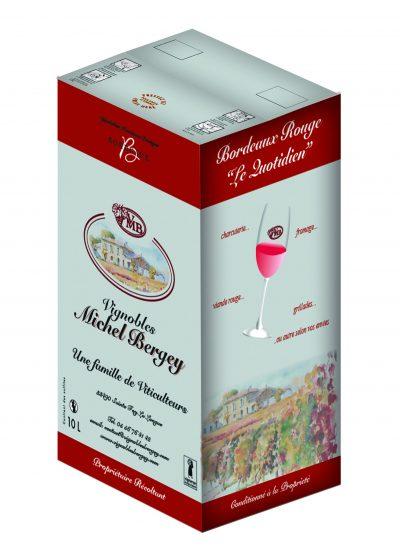 Vinibag rouge Vignobles Michel Bergey